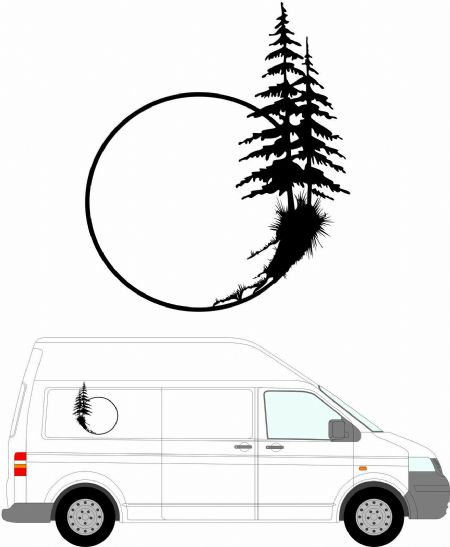 (No.117) MOTORHOME GRAPHICS STICKERS DECALS CAMPER VAN CARAVAN 550mm High